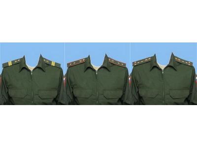 Фото на документы в Ессентуках. Замена одежды на общевойсковую военную форму